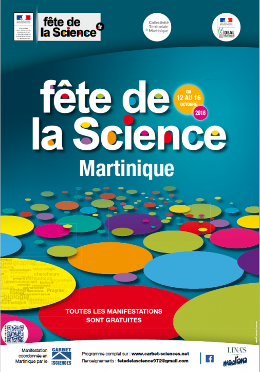 Flyer Fête de la Science 2016 en Martinique