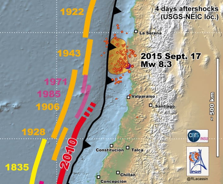 Chile Illapel earthquake Mw8.3 Sept 2015