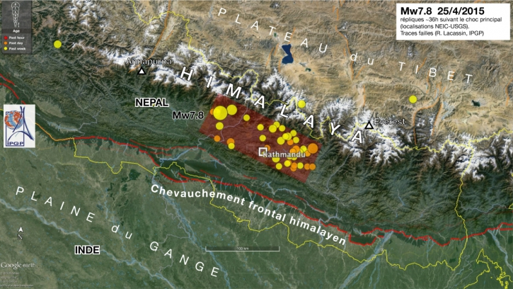 Central nepal earthquake april 25th 2015 institut de physique we can already conclude that the earthquake gumiabroncs Choice Image