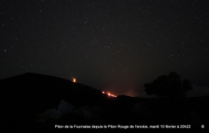 Photo eruption depuis Piton rouge
