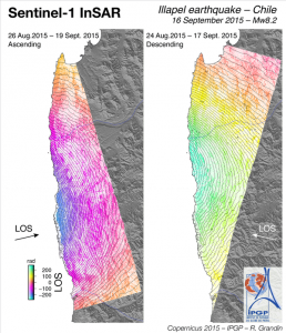 Sentinel-1 InSAR results Illapel Earthquake - R. Grandin, IPGP