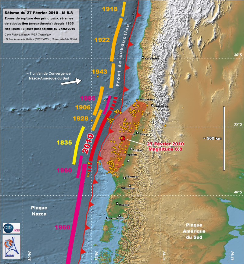 Chile 2010 earthquake rupture zones of megathrust subduction earthquakes gumiabroncs Images